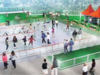 天王寺公園「てんしば」でスケートリンク
