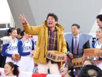 通天閣「節分福豆まき」に赤井英和さん乱入