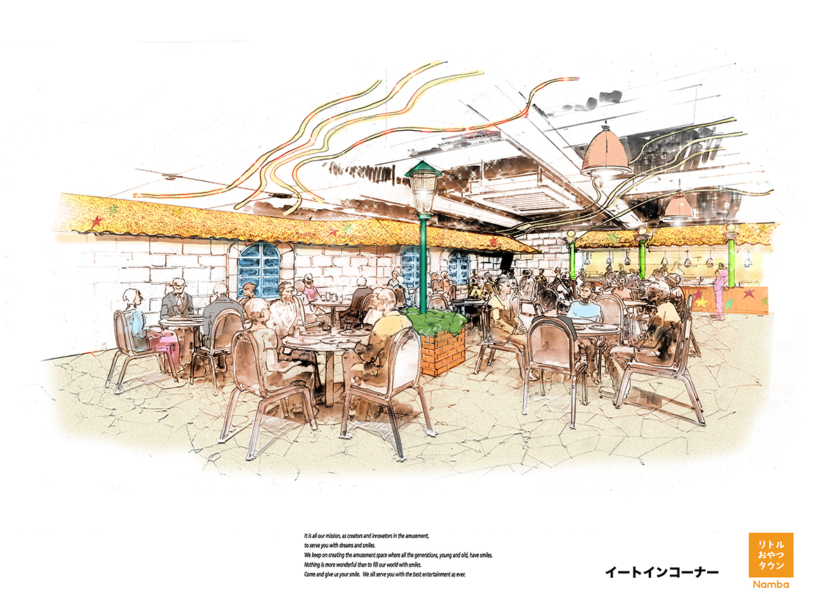 「リトルおやつタウン Namba」フードエリアイメージ