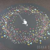 「海遊館トレイン」の床面に生き物のイラスト