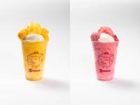 カップマンゴーかき氷 カップいちごかき氷