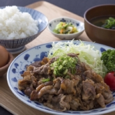 牛カルビ焼肉定食