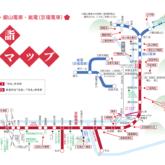 京阪電車 初詣マップ