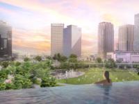 都市型スパ インフィニティープール(屋外温水プール)