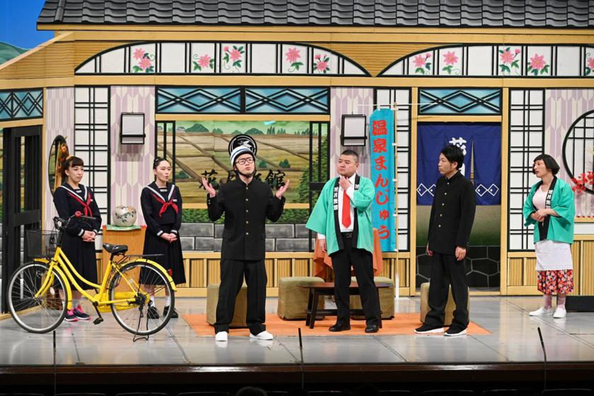 4)(左から)森田まりこ、松浦景子、アキナ・ 山名文和、 川畑泰史、アキナ・ 秋山賢太 、すっちー