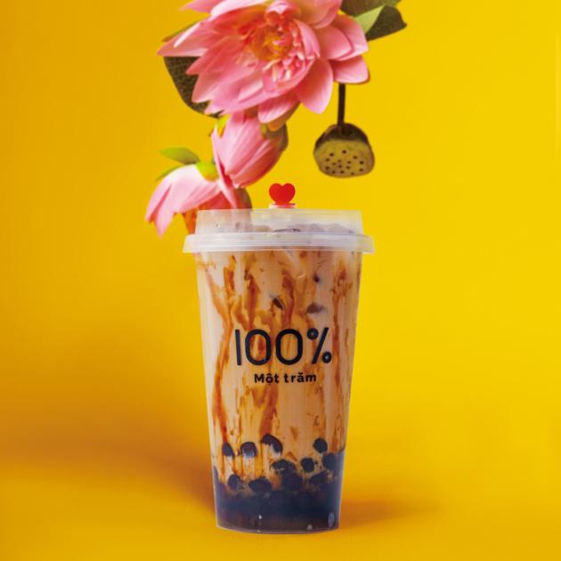 台湾屋台の定番ドリンク 「黒糖タピオカミルク」