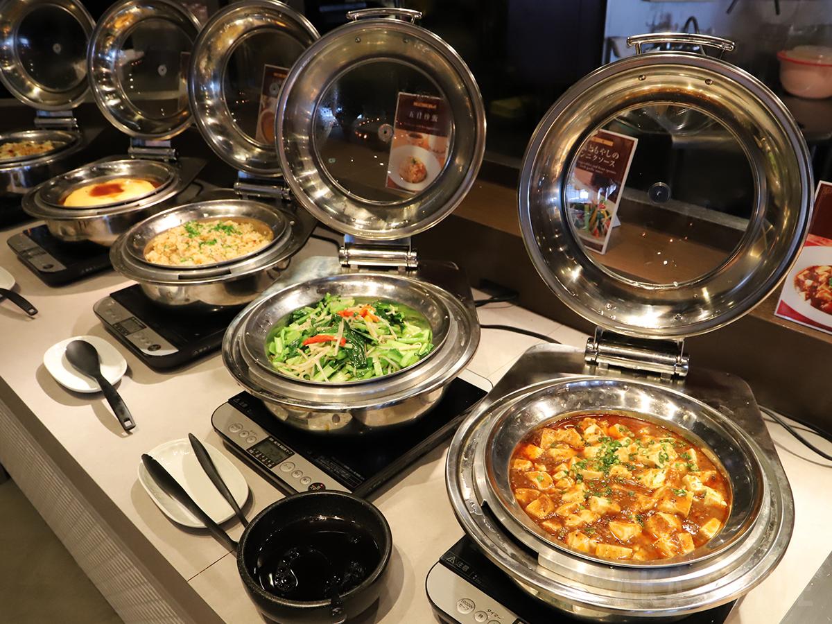 麻婆豆腐、焼きそば、五目炒飯