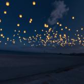 泉州ビーチランタンフェス~夜空に舞う灯りに願いをのせて~